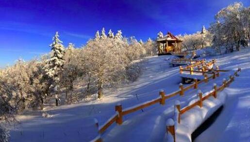 凤凰山高山大雪原